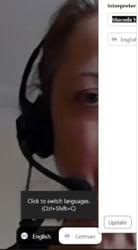 Remote interpreter on Zoom